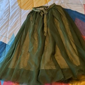 Beautiful JCrew Tulle Ball Skirt in Forest Green